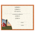 Custom Fair, Festival & 4-H Award Certificate - Red Barn Design