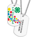Personalized Cloverbud Dog Tag w/ Print on Back