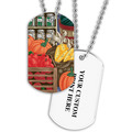 Personalized Fruits & Veggies Dog Tag w/ Print on Back