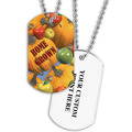 Personalized Home Grown Dog Tag w/ Print on Back