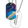 Personalized Planets Dog Tag w/ Print on Back