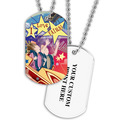 Personalized Rollercoaster Dog Tag w/ Print on Back