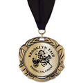 XBX Metallic  Fair, Festival & 4-H Award Medal w/ Grosgrain Neck Ribbon
