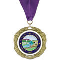 XBX Full Color Fair, Festival & 4-H Award Medal w/ Grosgrain Neck Ribbon