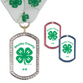 GEM Tag Fair, Festival & 4-H Award Medal w/ Millennium Neck Ribbon