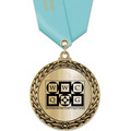 GFL Metallic Fair, Festival & 4-H Award Medal w/ Satin Neck Ribbon