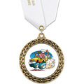 GFL Full Color Fair, Festival & 4-H Award Medal w/ Satin Neck Ribbon