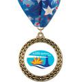 GFL Full Color Fair, Festival & 4-H Award Medal w/ Millennium Neck Ribbon