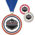 GEM Full Color Fair, Festival & 4-H Award Medal w/ Grosgrain Neck Ribbon