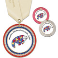 GEM Full Color Fair, Festival & 4-H Award Medal w/ Satin Neck Ribbon