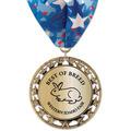 RS14 Metallic Fair, Festival & 4-H Award Medal w/ Millennium Neck Ribbon