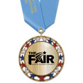 RSG Metallic Fair, Festival & 4-H Award Medal w/ Satin Neck Ribbon
