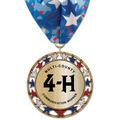 RSG Metallic Fair, Festival & 4-H Award Medal w/ Millennium Neck Ribbon