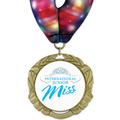 XBX Full Color Fair, Festival & 4-H Award Medal w/ Millennium Neck Ribbon