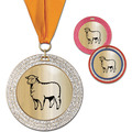 GEM Metallic Fair, Festival & 4-H Award Medal w/ Grosgrain Neck Ribbon