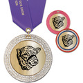 GEM Metallic Fair, Festival & 4-H Award Medal w/ Satin Neck Ribbon