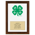 4-H Clover Award Plaque - Cherry Finish