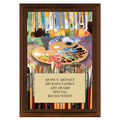 Art Brushes Award Plaque - Cherry Finish