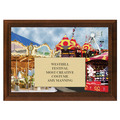 Full Color Plaque w/ Festival Stock Design  - Cherry