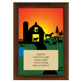 Farm Fair, Festival & 4-H Award Plaque - Cherry Finish