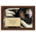 Photo Lense Award Plaque - Cherry Finish