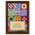 Quilting Award Plaque - Cherry Finish