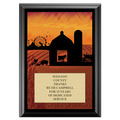 Fair and Festival Award Plaque - Black