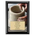 Pottery Award Plaque - Black