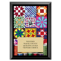 Quilting Award Plaque - Black