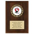 RS14 Full Color Fair, Festival & 4-H Medal Award Plaque - Cherry Finish