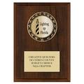 RS14 Metallic Fair, Festival & 4-H Medal Award Plaque - Cherry Finish