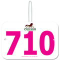 Custom Large Rectangular Fair, Festival & 4-H Exhibitor Number w/ Hook