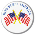 "2-1/4"" God Bless America Button"