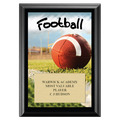 Football Black Wood Plaque