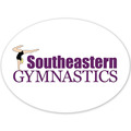 Oval Gymnastics, Cheer & Dance Window Decal