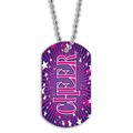 Full Color Cheerleading Dog Tag