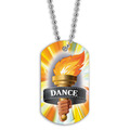 Full Color Torch Dance Dog Tag