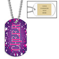 Personalized Cheer Dog Tag w/ Engraved Plate