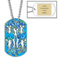 Personalized Cheering Dog Tag w/ Engraved Plate