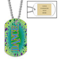 Personalized Dance Dog Tag w/ Engraved Plate