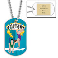 Personalized Male/Female Gymnast Dog Tag w/ Engraved Plate