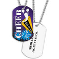 Personalized Cheerleader Dog Tag w/ Print on Back