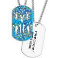Personalized Cheering Dog Tag w/ Print on Back