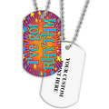 Personalized Rhythm Dance Dog Tag w/ Print on Back