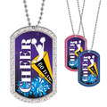 Full Color GEM Cheerleader Dog Tag