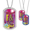 Full Color GEM Chalk Tears Gymnastics Dog Tag