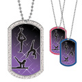 Full Color GEM Female Gymnastics Dog Tag