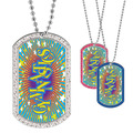 Full Color GEM Gymnastics Dog Tag