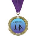 XBX Full Color Gymnastics, Cheer & Dance Award Medal w/ Grosgrain Neck Ribbon