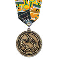 LX Gymnastics, Cheer & Dance Award Medal w/ Multicolor Neck Ribbon